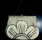 An Antique Quality Art Deco Beaded Small Purse Made In France