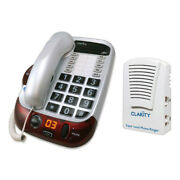 Clarity Alto Big Button Amplified Corded Phone W/ Sr100 Super Loud Phone Ringer