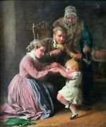 The Dancing Child William Bromley 1835-1888 Original Oil Sign And Dated 1862.