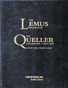 Heritage 1-09 Lemus/queller Pattern Library Edition Coin Auction Catalog