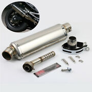 38-51mm Universal Motocycle Exhaust Muffler Pipe Stainless Steel With Db Killer