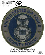 Patch Us Air Force Security Forces Combat Subdued Seal Sf Mp Police Badge