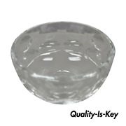 Orrefors Crystal Glass 7 Round Coin Dot Bowl Signed To Base