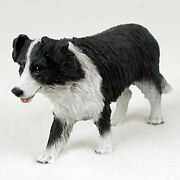Border Collie Figurine Hand Painted Collectible Statue