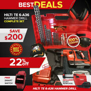 Hilti Te 6-a36 Hammer Drill, Preowned, Free Smart Watch, Fast Ship