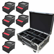 6 Chauvet Dj Freedom Cyc Wireless Rechargeable Wall Wash Lights And Charging Case