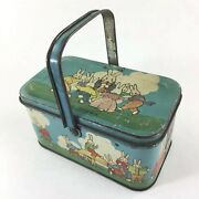 Vintage Tindeco Peter Rabbit Tin Container Easter Bunnies Candy 1920andrsquos Holiday