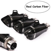100 Carbon Fiber Universal Motorcycle Atv Exhaust Tips Muffler Pipe For 38-51mm