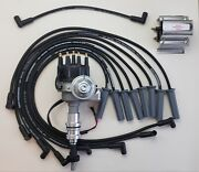 Ford 351c 429 460 Black Small Cap Hei Distributor +60k Coil + 8.5mm Plug Wires