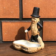 Vintage Mr.peanut Planters Ashtray Ashtray Pottery America Collectable Object