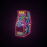 Aoos Custom Arcade Race Game Dimmable Led Neon Light Signs For Wall Decor