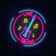 Aoos Custom Live Music Guitar Bar Dimmable Led Neon Light Signs For Wall Decor