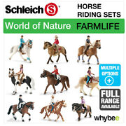 Schleich World Of Nature Farm Life Horse Riding Sets Horse Toys And Figures Sets