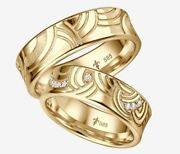 Giloy Wedding Rings With 17 Diamonds 017ct - 585er Rosandeacute White Red Or Yellow