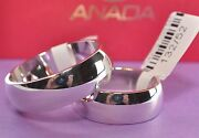 1 Pair Wedding Rings - Gold 585 White Gold - Width 8mm - Strength 21mm
