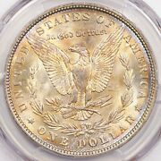 1888-o Morgan Silver Dollar Pcgs Ms66 Bu Rare Date Golden Toned Color Gem Dr