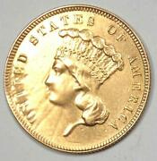 1862 Indian Three Dollar Gold Coin 3 - Xf Details Repaired - Civil War Date