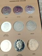 Eisenhower Usa Silver And Clad Dollar Investment Grade Collection 32 Coins