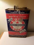 One Star_paint Thinner_vintage Oil And Gas Can_1 Gallon