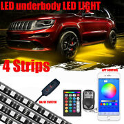 4pc 18 Color Car Truck Underglow Underbody Rgb Accent Kit Glow Led Lightstrips