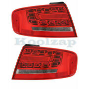 09-12 A4/10-12 S4 Outer Taillight Taillamp Rear Led Brake Light Lamp Set Pair