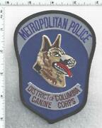 District Of Columbia Metropolitan Police 1st Issue Canine Corps Shoulder Patch