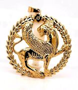 18k Solid Gold Griffin Dragon Shirdal Lion Wings Achaemenid Empire Pendant 550bc