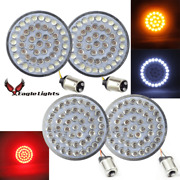 Eagle Lights Value Line 2 Harley Led Front And Rear Red Turn Signals W Clear Lens