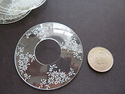 Lot 8 Very Small Round Glass Shades Ceiling Candle Lamp Deco Flowers 23/4 Diam