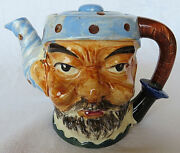 Vintage Ceramic Pottery Made In Occupied Japan Man Head Toby Teapot Hand-painted