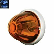 Light Amber Watermelon Real Glass Kit 2 Wire Incandescent Flush Mount New 79731