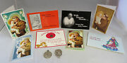 Lot Of 8 Vintage Catholic Religious Holy Father Cards And 2 Medals