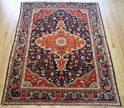 Fantastic Floral Antique 1900and039s Village Oriental Rug Handmade Wool 4and03910 X 7and039