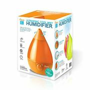 Ultrasonic Cool Mist Humidifier Filter Free Variable Speed 24 Hour 1 Gal Orange