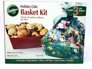Wilton Holiday Gifts Basket Kit Bags Tags Accent Sticker Sheets Ribbon New