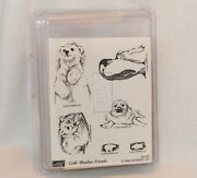 Stampin' Up Cold Weather Friends Polar Bear Penguin Fox Seal/pup Rubber Stamps