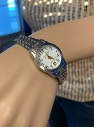 Precision By Gruen Womenand039s Watch Date Time Model Gp431l Bubble Crystal Vintage
