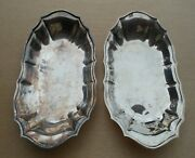 Trays Fb Rogers Silver Co 1883 Oneida Bread Dish Silverplate 12andtimes7 Set Of 2