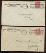 Scott 482 Farwell Group 4 Vending Coil Stamps On 2 Nice 1917 Covers 482-f2