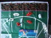 Vintage Lot If 9 Randtoy Toy Plastic Baseball Figures Players 2 Tall And Playmat
