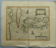 Antique Map Of Japan Iaponia Japon G. Mercator Oriented To The North