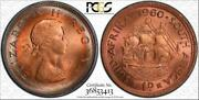 1960 South Africa 1 Cent Pcgs Ms65+rb Circle Toned Finest Graded World Wide Aw
