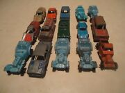 Vintage Lot Of 15 Tootsie Toy Antique Cars And Barclays Train 4 Broken