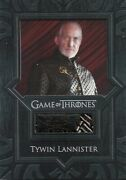 Game Of Thrones Valyrian Steel Tywin Lannister Jacket Vr5 Costume Relic Card