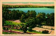 Postcard Gardens And Tennis Courts The Lakeside Eagles Mere Pa