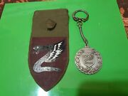Idf Lot 3 Paratroopers Items Key Chain Shoulder Tag And Small Pin
