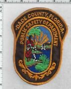 Dade County Public Safety Dept Florida 2nd Issue Uniform Take-off Patch