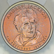 2008-d Presidential Dollar Andrew Jackson Icg Sp69 Satin First Day Issue Dr