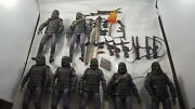 Planet Of The Apes Lot Custom Figures Neca Gorilla Soldiers Lot Of 7 With Stands