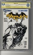 Batman 2011 3 1200 Sketch Ri - Cbcs 9.0 White Pages -ss3x Capullo, Snyder And